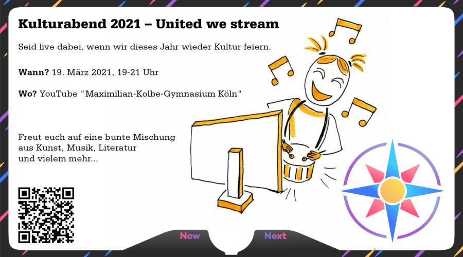 Kulturabend am MKG – United we stream